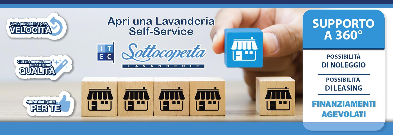 Apri una Lavanderia in Sefl Service Sottocoperta